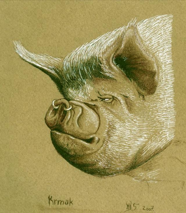 Animalizam u slikarstvu.. Krmak